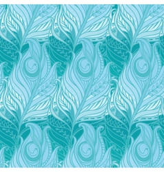 Seamless pattern with decorative feather vector