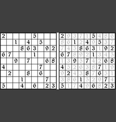 sudoku game vector image