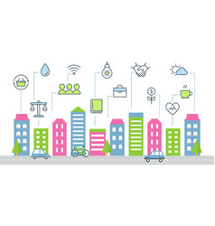 Sustainable development and smart city vector