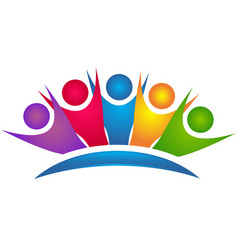 Teamwork group family people icon vector
