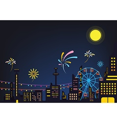 Urban festival background vector