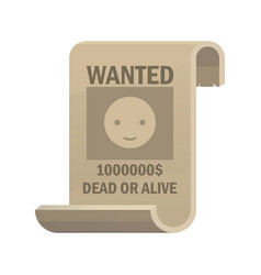 Wanted dead or alive icon vintage western poster vector