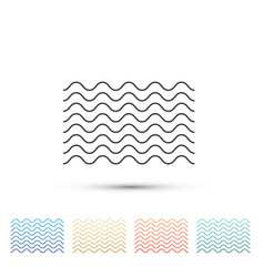 waves icon isolated on white background vector image