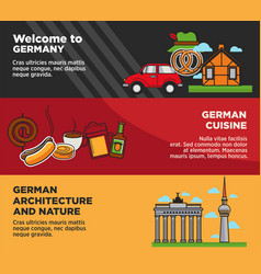 welcome to germany advertisement banners with vector image
