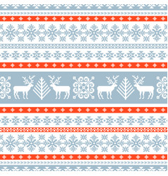 winter knitted pattern vector image