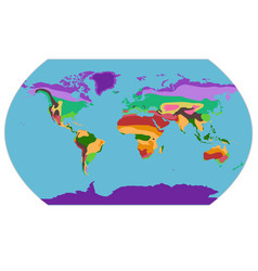 with geographical climate zones m vector image