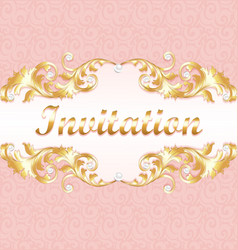 a wedding invitation card for a wedding with a vector image