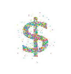 dollar abstract circles vector image