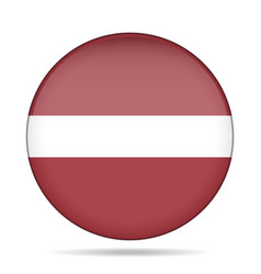 flag of latvia shiny round button vector image