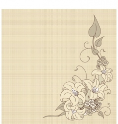 flowers on canvas vector image vector image