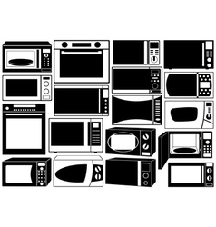 Set of microwave ovens vector image vector image