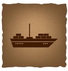 Ship sign Vintage effect vector image