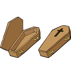 two coffins vector image vector image