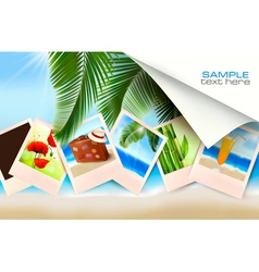 Background with photos vector image vector image