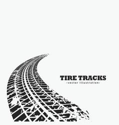 Dirty tire tracks fading into the horizon vector