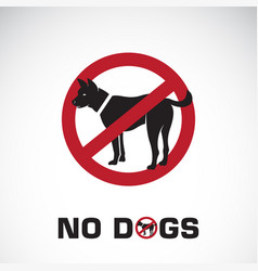 dog in red stop sign on white background no dogs vector image