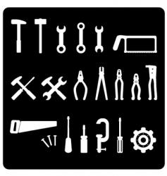 tool icon set vector image vector image