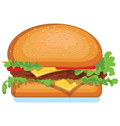 Hamburger icon isolated on white food vector image vector image