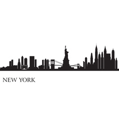New York city skyline silhouette background vector image vector image