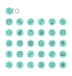 Round SEO Icons vector image vector image