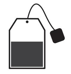 tea bag sign tea bag icon on white background vector image vector image