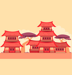 china old town vector image