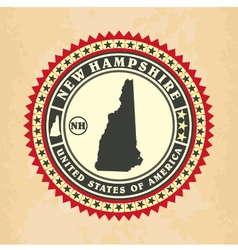 Vintage label-sticker cards of New Hampshire vector image vector image