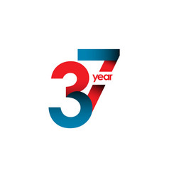 37 year anniversary template design vector