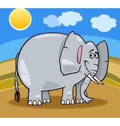 African elephant cartoon vector