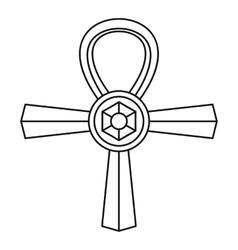 Ankh symbol icon simple style vector