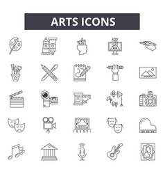 arts line icons for web and mobile design vector image