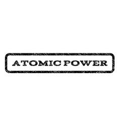Atomic power watermark stamp vector