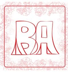 BA monogram vector