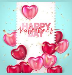 Balloon hearts holiday of vector