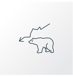 bear market icon line symbol premium quality vector image