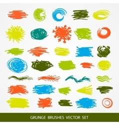 Big set of grunge brush strokes vector image