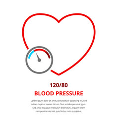 blood pressure 120 vector image