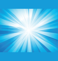 blue rays sun vector image