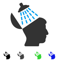 Brain washing flat icon vector