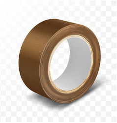 Brown duct roll adhesive tape vector