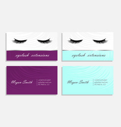 Business card variation for eyelash extinsions vector