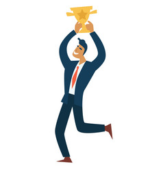 businessman and success entrepreneur with gold vector image