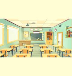 cartoon of school classroom vector image