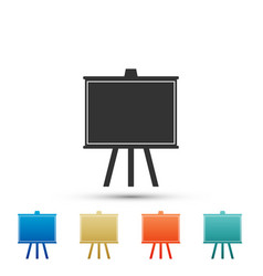 chalkboard icon isolated on white background vector image