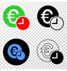 collage of gradiented dotted euro credit time and vector image