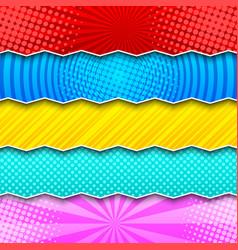 comic colorful horizontal banners vector image