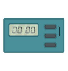 cooking timer icon flat style vector image