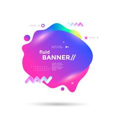creative design fluid banner vector image