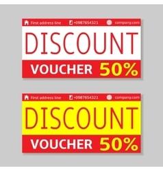 Discount voucher cards vector image
