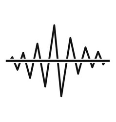 Equalizer voice radio icon simple black style vector